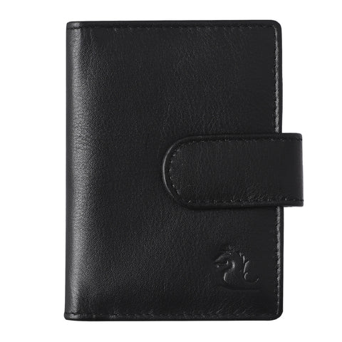 14030 Black Leather Card Holder for Men and Women