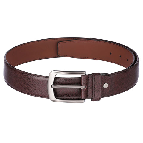 4207 Brown Textured Belt for Men