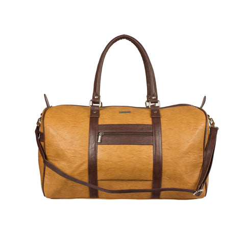 Ecco Camel & Brown Duffel Bag