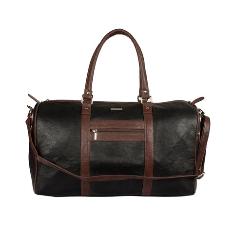 ECCO BLACK & BROWN DUFFEL BAG