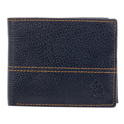 10085 Blue Contrast Stitched Wallet