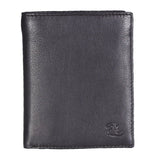14027 Black Vertical Bifold Wallet