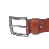 4107 Brown Leather Belt for Men