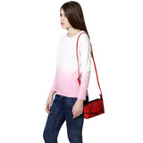 RN-635 Red & Black Sling Bag