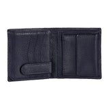 10088 Blue Contrast Stitched Wallet