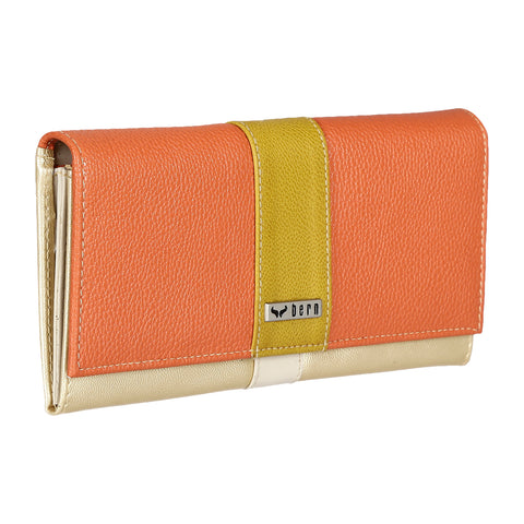 RNW-007 Orange & Mustard Bifold Wallet