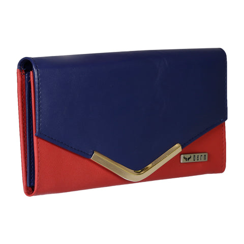RNW-005 Red & Blue Bifold Wallet