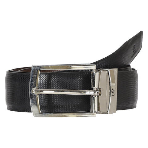 4175 Black & Brown Reversible Textured Belt for Men