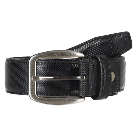 4179 Black Textured Belt for Men