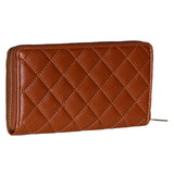 RNW-009 Black Quilted Zip Around Wallet