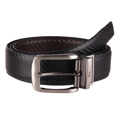 4191 Black & Brown Reversible Textured Belt