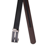 4247 Black & Brown Reversible Textured Belt for Men