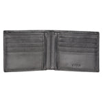 Black Leather Bifold Wallet