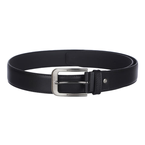 4208 Black Textured Belt for Men