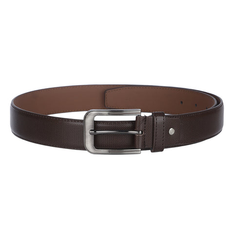 4208 Brown Textured Belt for Men