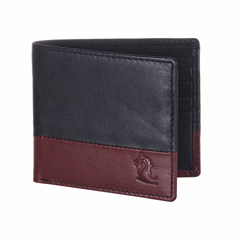 Black & Red Bifold Wallet