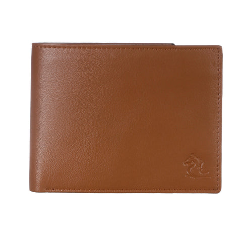 13003 Light Tan Bifold Coin Wallet