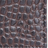 10119 Croco Brown Leather Card Holder for Men and Women