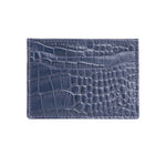 10119 Blue Croco Card Holder
