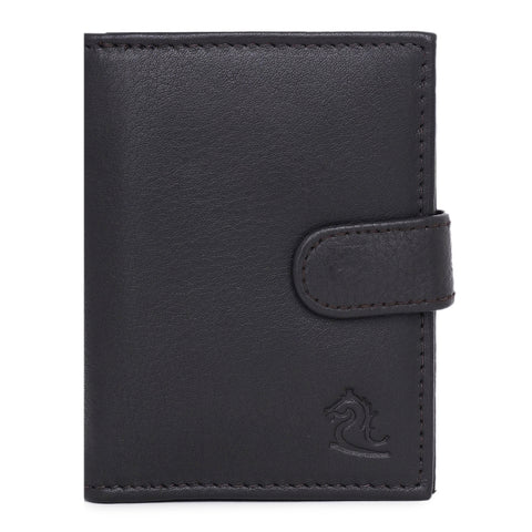 14044 Brown Leather Card Holder for Men and Women