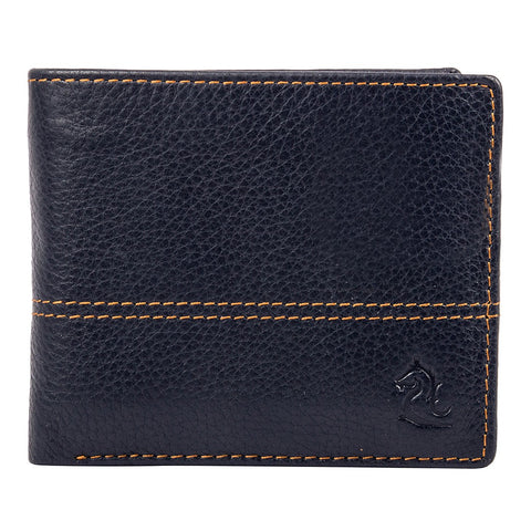 Blue Contrast Stitched Wallet