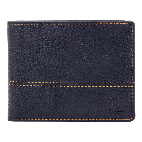 10086 Blue Contrast Stitched Wallet
