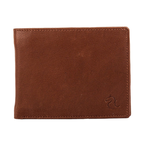 10003 Tan Bifold Coin Wallet