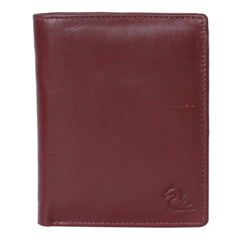 10027 Tan Vertical Bifold Wallet