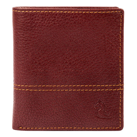 10088 Maroon Contrast Stitched Wallet