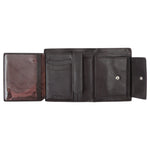10027 Brown Vertical Bifold Wallet