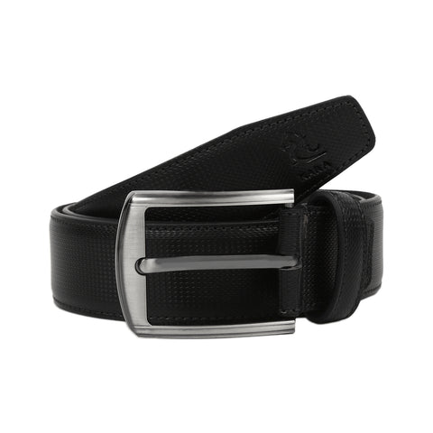 4209 Black Textured Belt for Men