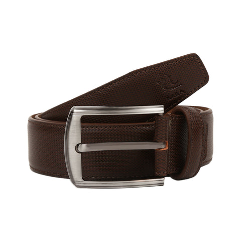4209 Brown Textured Belt for Men