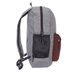9269 Grey & Brown Foldable Backpack