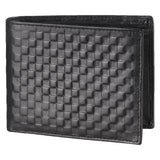 14087 Black Textured Bifold Wallet
