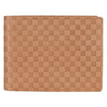 14087 Light Tan Textured Bifold Wallet