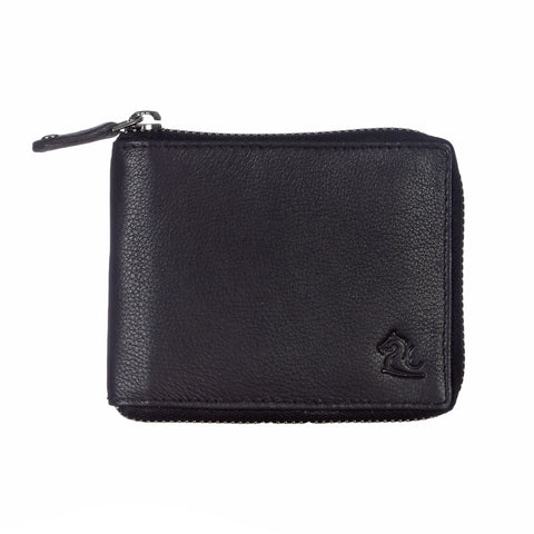 14089 Brown Zip Around Wallet