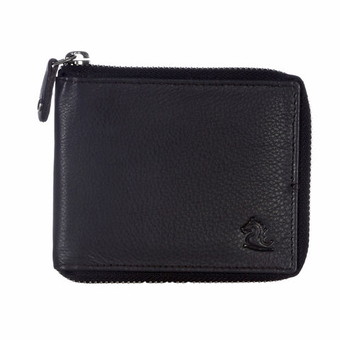 14090 Brown Zip Around Wallet
