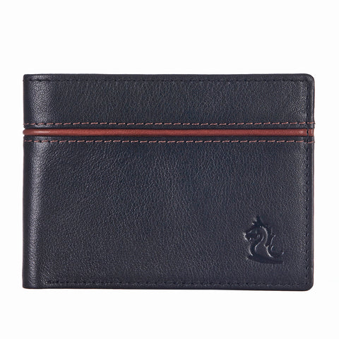 14091 Black & Tan Bifold Wallet