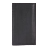 14096 Black Long Leather Card Holder for Men and Women