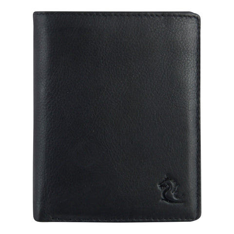 10027 Black Vertical Bifold Wallet