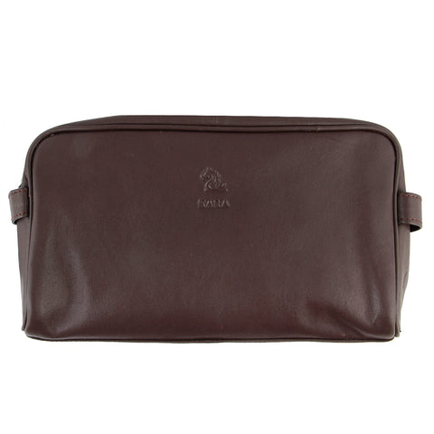 Ted Tan Leather Wash Bag for Men