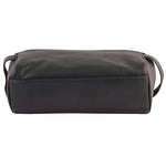 Ted Black Leather Wash Bag for Men