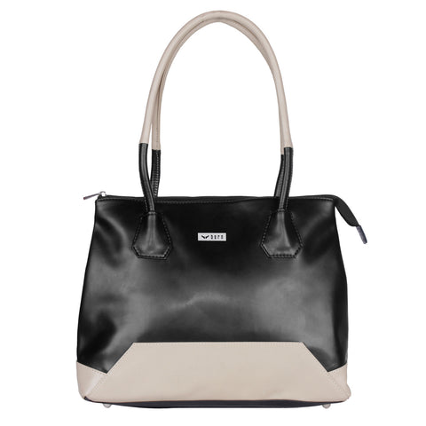 RN-600 Black & Beige Handbag