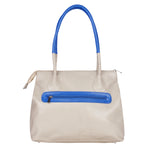 RN-600 Beige & Navy Blue Handbag