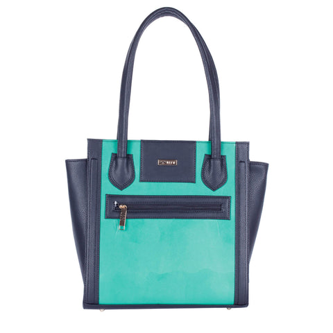 RN-602 Black & Green Handbag
