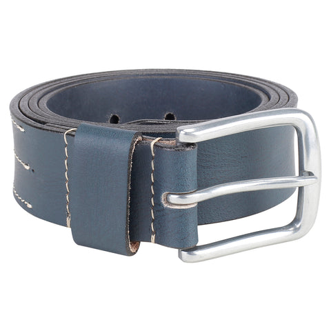 4140 Navy Blue Leather Belt for Men