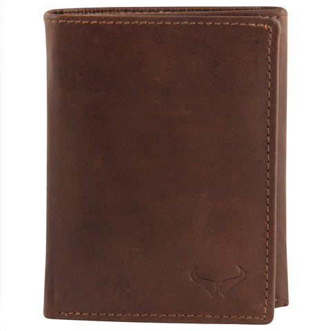 RNM-009 Brown Trifold Wallet
