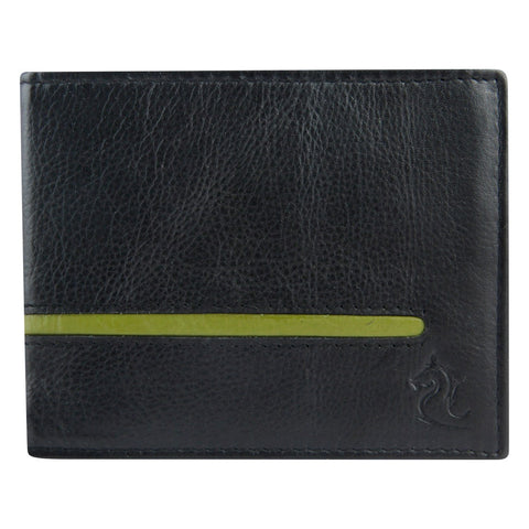 14053 Black & Green Bifold Wallet