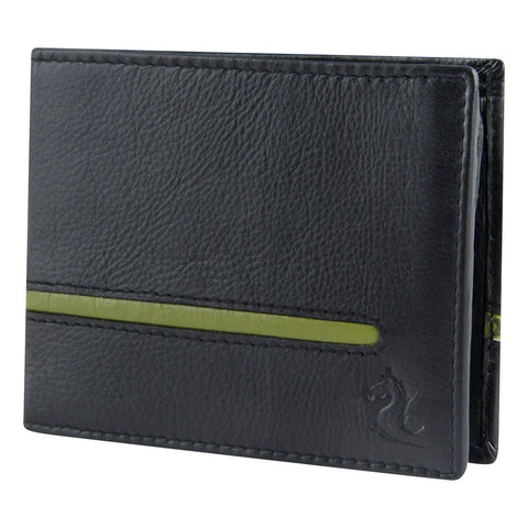 Black & Green Bifold Wallet