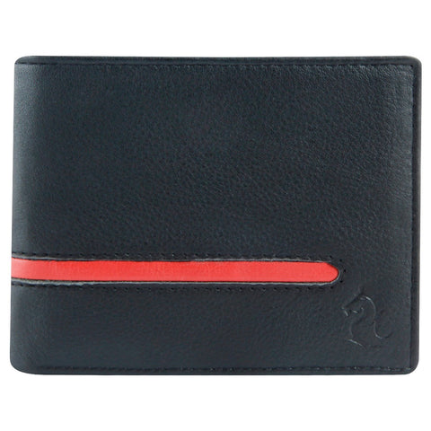 14053 Black & Red Bifold Wallet